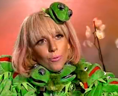 Lady Gaga's Kermit The Frog outfit.