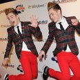 Jedward on the Jingle Bell Ball red carpet