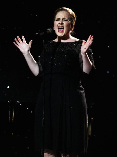 Adele sings live at the BRIT Awards