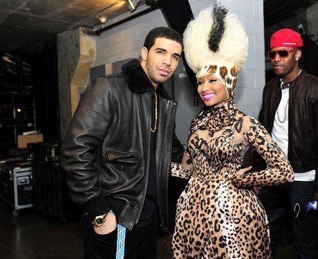 Drake with Nicki Minaj Grammy Awards backstage