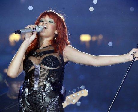 Rihanna performs in the Ukraine