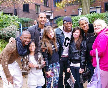 JLS fans on Broad Street