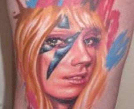 Lady Gaga Fan Face Tattoos