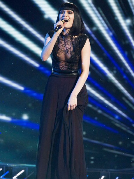Jessie J peforming on X Factor