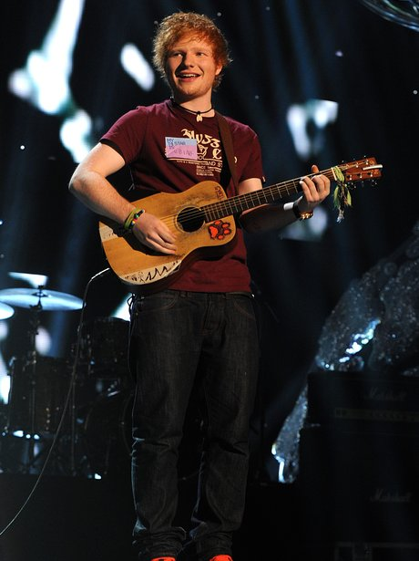 Ed Sheeran performing during T4's Stars of 2011