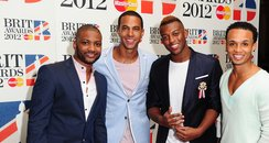 JLS BRIT Awards 2012 nominations arrivals