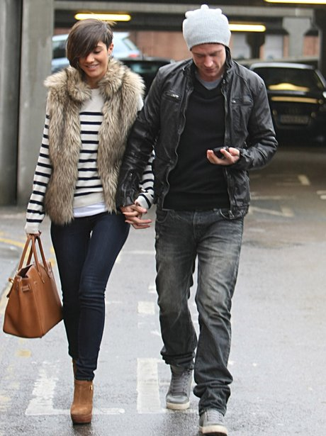 Frankie Sandford with  her boyfriend Wayne Bridge