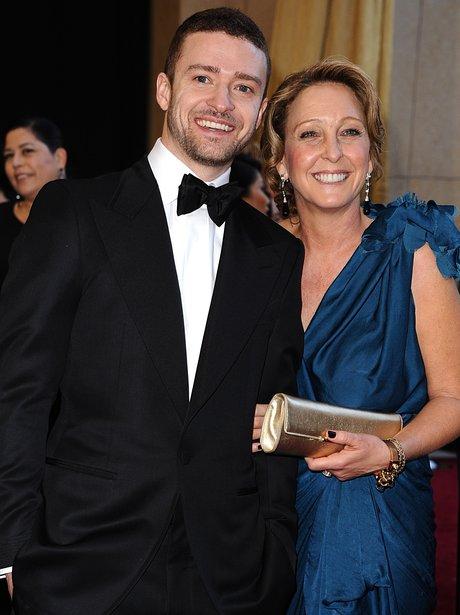 Jutsin Timberlake and his mum