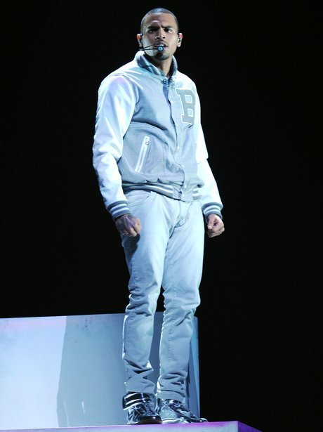 Chris Brown performs at Grammy Awards