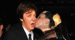 Lady Gaga kissing paul mccartney