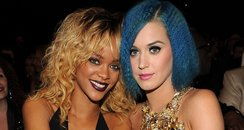 Katy Perry and Rihanna at the Grammy Awards
