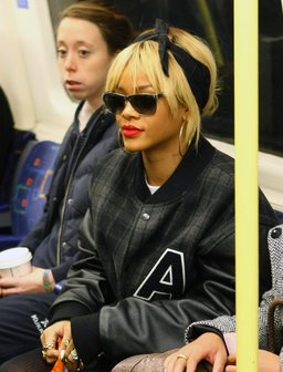 Rihanna on the Tube