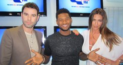Dave Berry and Lisa Snowdon with Usher
