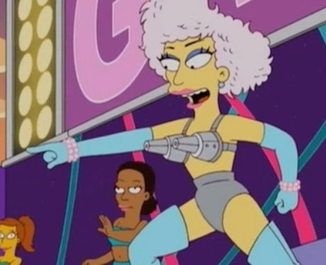 Lady Gaga in The Simpsons.