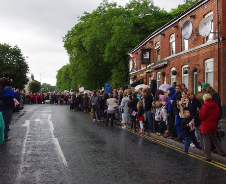 People line the the streets of Greater Manchester