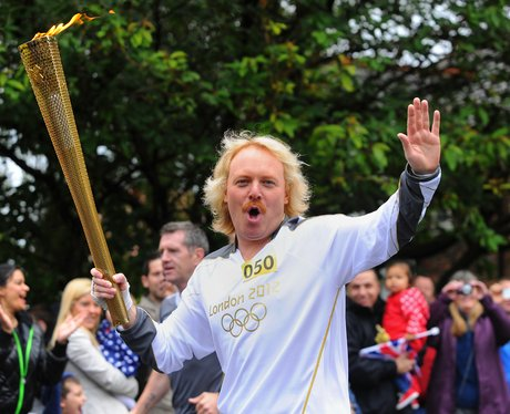 Keith Lemon with Olympic torch