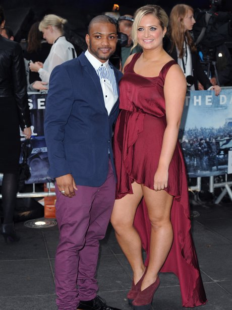 JB and Girlifriend at 'The Dark Kinght Rises' Prem