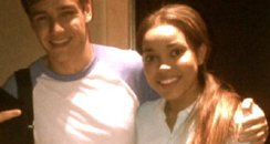 Liam Payne with Dionne Bromfield in the studio