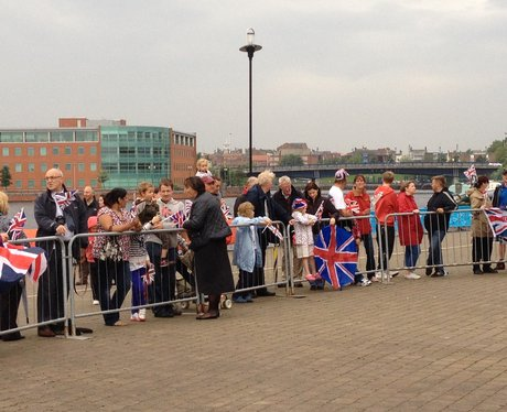 Crowds at Tees Rowing Club in Stockton