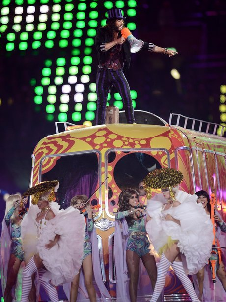 Russell Brand at the London 2012 closing ceremony.