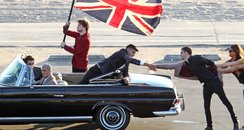 The Wanted's new video shoot in Los Angeles.