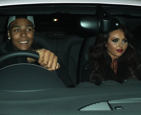 Little Mix's Jesy Nelson and boyfriend.