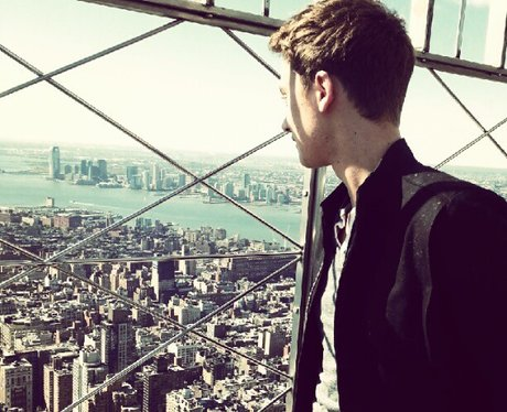 Conor Maynard on top of the empire state building
