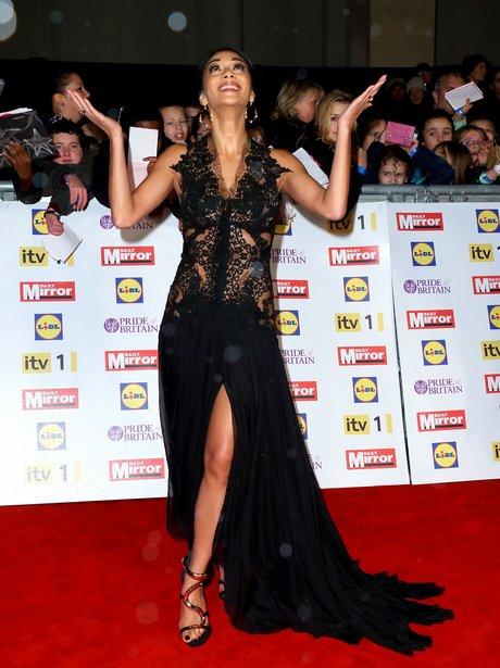 Nicole Scherzinger attends the Pride Of Britain Awards.