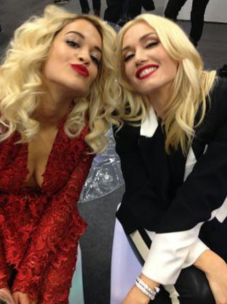 Rita Ora and Gwen Stefani at the EMAs