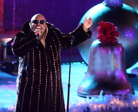 Cee Lo Green performs at the Christmas Tree Lighting Ceremony.