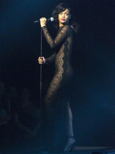Rihanna performs on X Factor UK