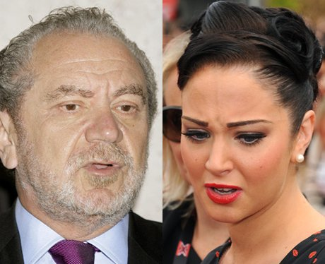 Tulisa and Alan Sugar