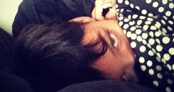 Rihanna in bed