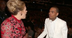 Adele and Chris Brown Grammys 2013