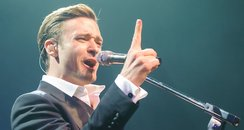 Justin Timberlake performs at the Brit Awards afte