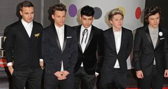One Direction attend the Brit Awards 2013