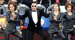 PSY performing at the South Korean presidential el