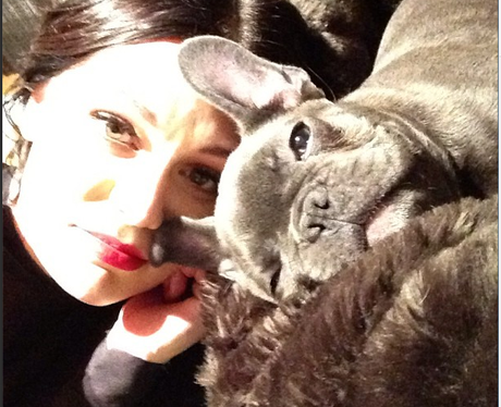 Jessie J with her pet dog