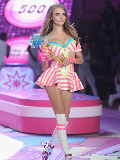Cara Delevingne walks the runway during the 2012 Victorias Secret fashion show