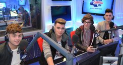 Union J in the capital studios