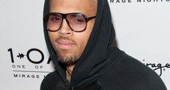 Chris Brown wearing glasses