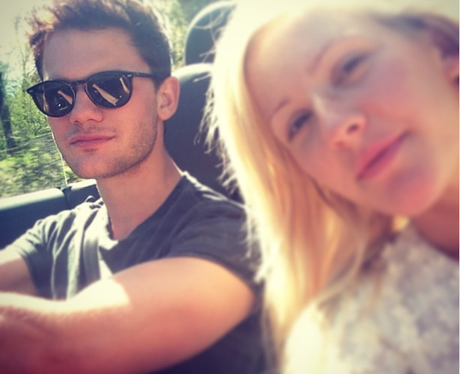 Ellie Goulding and boyfriend Jeremy Irvine share a selfie