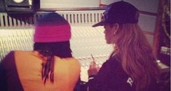 Rihanna In Studio With Wale Twitter