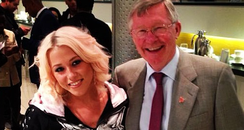 Amelia Lily and Alex Ferguson