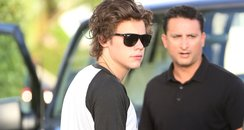 One Direction head to the studio in Miami