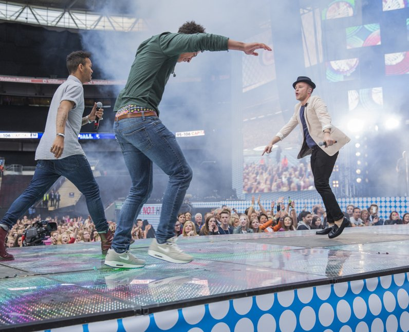 Olly Murs and Rizzle Kicks at the Summertime Ball 2013