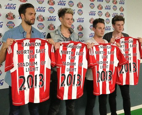 Lawson backstage at North East Live 2013