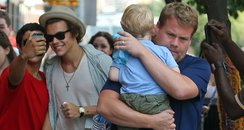 Harry Styles shopping with James Corden