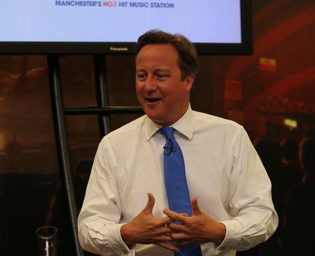 Prime Minister David Cameron visits Capital FM