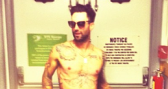 Adam Levine topless